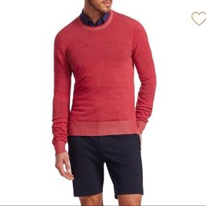 NWT men's red cotton sweater